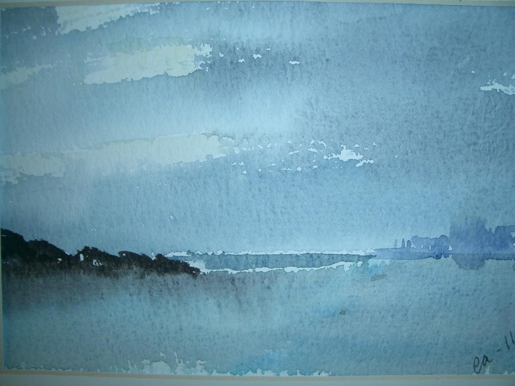 Blå horisont