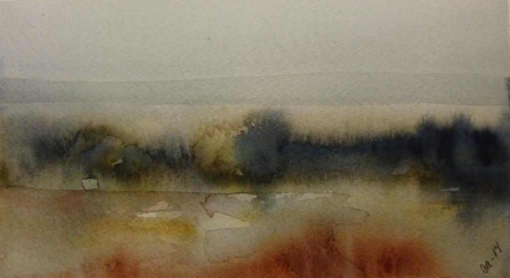 Morgon 24x18 akvarell