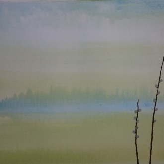 Lake view in April  Såld