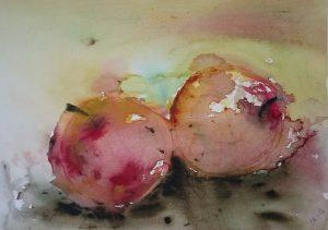frukt-akvarell