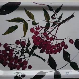 Bricka Rönnbär II  21 x 33 cm