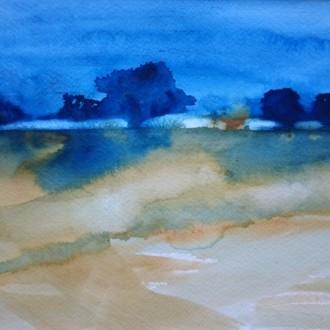 Blå landskap